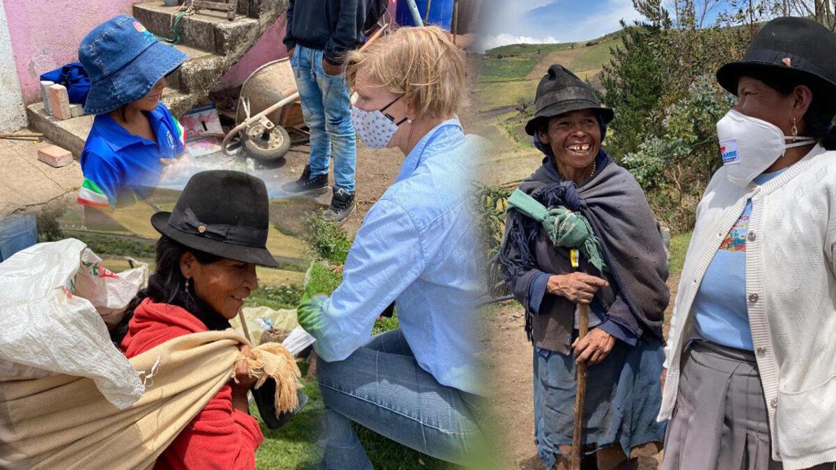 Einer von vielen Fällen, in denen die Damas helfen. Hier in einem Dorf nahe Quito. Foto © Lucia Bayas